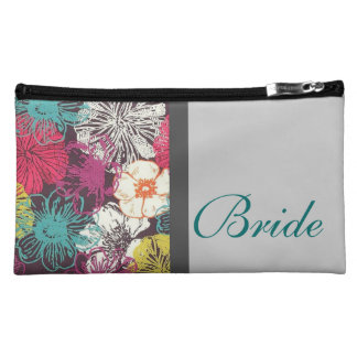 Bride Cosmetic Bag with Asain Floral Mix