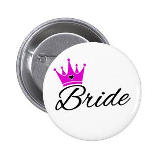 Bride Crown Bachelorette Party 6 Cm Round Badge
