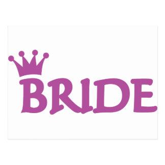 bride crown icon postcard