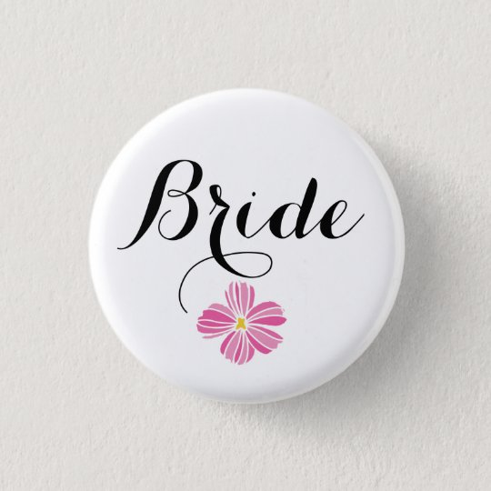 Bride Custom Wedding Pinback Buttons Badges