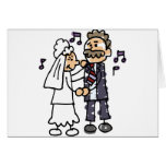 Bride Dances With Father Daughter Wedding Dance Greeting Card