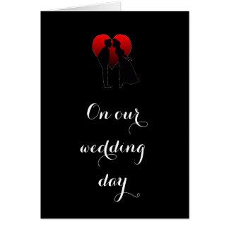 BRIDE DECLARES LOVE ON THEIR ***WEDDING DAY*** CARD