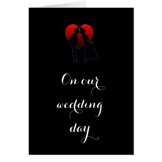 BRIDE DECLARES LOVE ON THEIR ***WEDDING DAY*** CARD