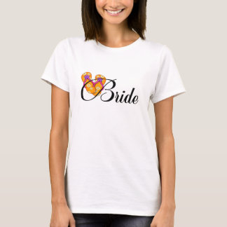 Bride Flip Flop Orange T-Shirt