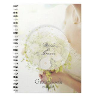 Bride flower bouquet editable wedding guest book