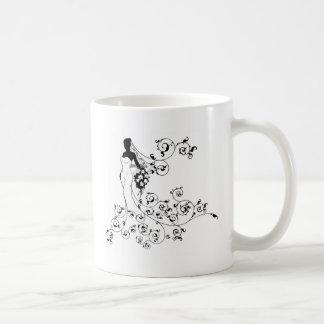 Bride Flowers Silhouette Wedding Design Coffee Mug