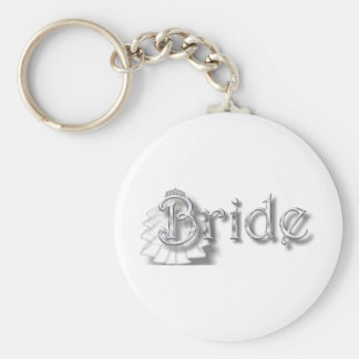 ♥Bride - for Bachlorette Party, Shower, Honeymoon♥ Basic Round Button Key Ring