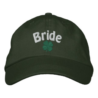 Bride - Four Leaf Clover - Customized Embroidered Hat