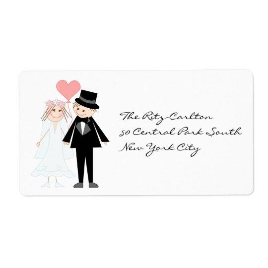 Bride future mrs and groom future mr shipping label