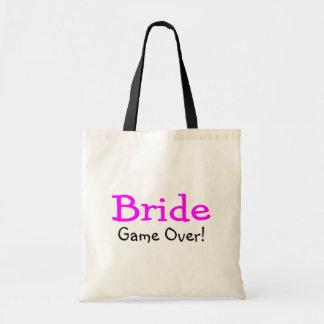 Bride Game Over Budget Tote Bag