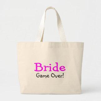 Bride Game Over Jumbo Tote Bag