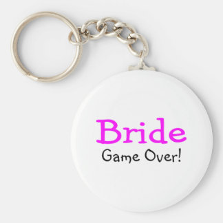Bride Game Over Keychain