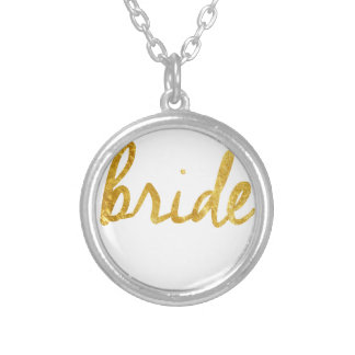 Bride Gifts Round Pendant Necklace