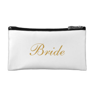 Bride Gold Cosmetic Bags