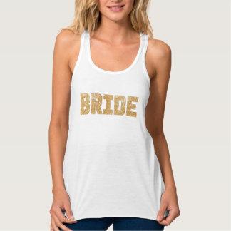 Bride Gold Glitter Bachelorette Tank
