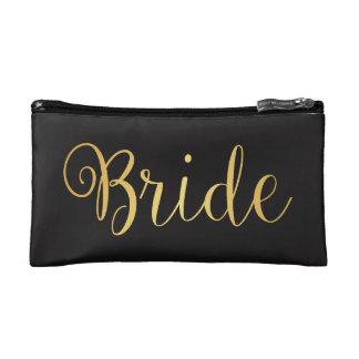 Bride golden Makeup Bag
