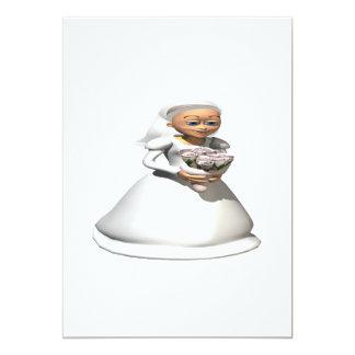 Bride Gray 13 Cm X 18 Cm Invitation Card