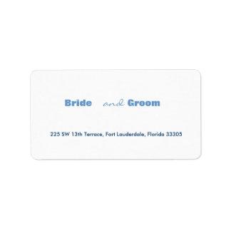 Bride & Groom Address Label