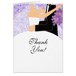 Bride Groom Bridal Shower Thank You Note Card