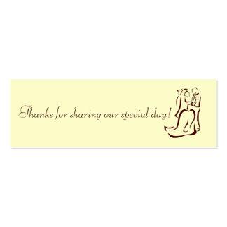 Bride&Groom Champagne Favor Tag Business Cards