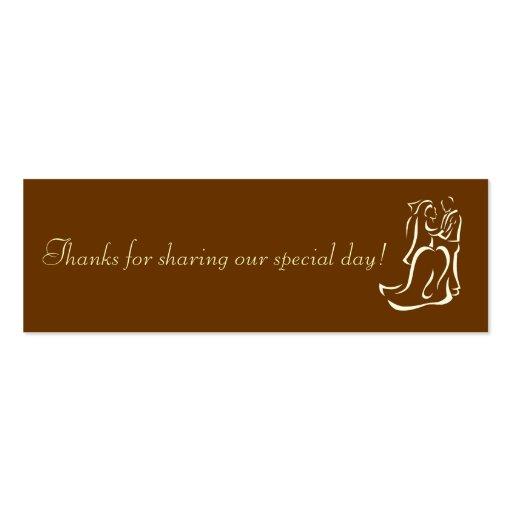 Bride&Groom Chocolate Favor Tag Business Card Templates