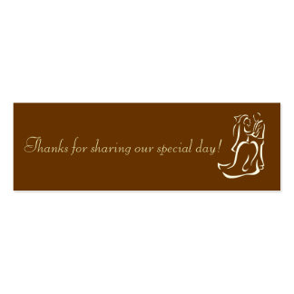 Bride&Groom Chocolate Favor Tag Pack Of Skinny Business Cards