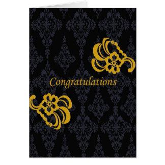 Bride & Groom Congratulations Card