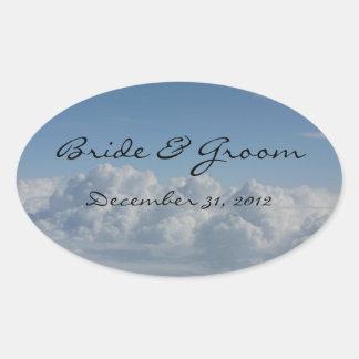 Bride Groom Customizable Cloud Sticker