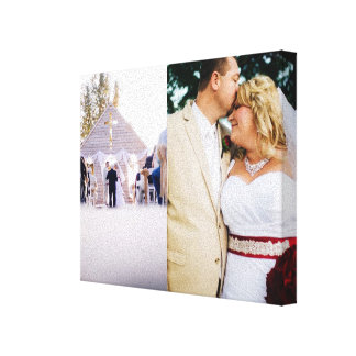 Bride & Groom customized add photo Wrapped Canvas Canvas Prints