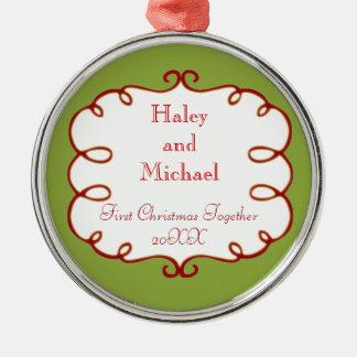 Bride & Groom First Christmas Ornament