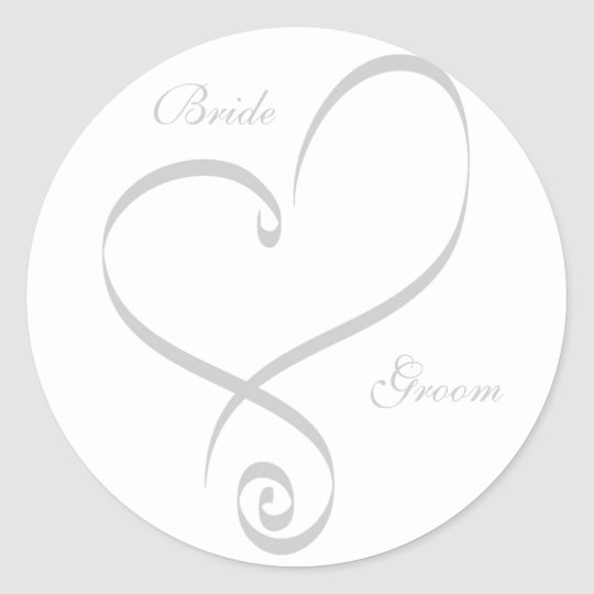 Bride & Groom Heart Stickers