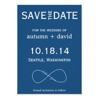 Bride & Groom Infinity Modern Save the Date 11 Cm X 16 Cm Invitation Card
