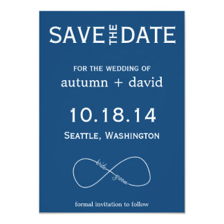 Bride & Groom Infinity Modern Save the Date 11 Cm X 16 Cm Invitation Card