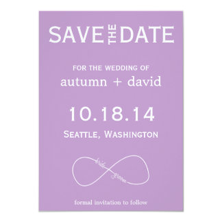 Bride & Groom Infinity Modern Save the Date Card