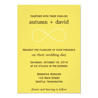 Bride & Groom Infinity Modern Wedding Invitation