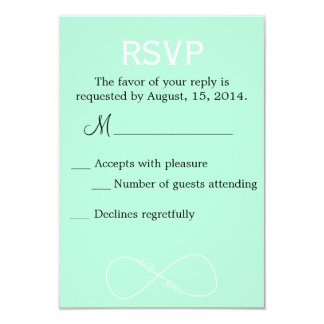 Bride & Groom Infinity Modern Wedding RSVP 9 Cm X 13 Cm Invitation Card
