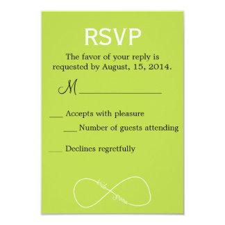 Bride & Groom Infinity Modern Wedding RSVP 9 Cm X 13 Cm Invitation Card