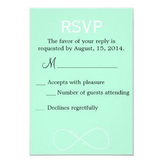 Bride & Groom Infinity Modern Wedding RSVP Card