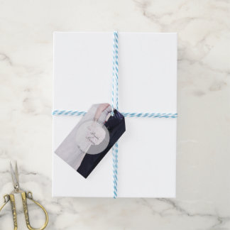 Bride & groom photography editable wedding gift tags