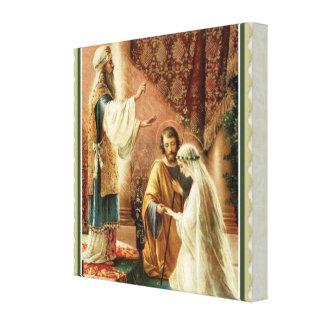 Bride & Groom Priest Wedding Engagement Canvas Print