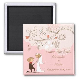 Bride Groom Proposal Save The Date Wedding Fridge Magnets