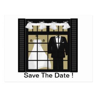 Bride & Groom -Save The Date Postcard