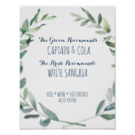 Bride & Groom Signature Drink Poster