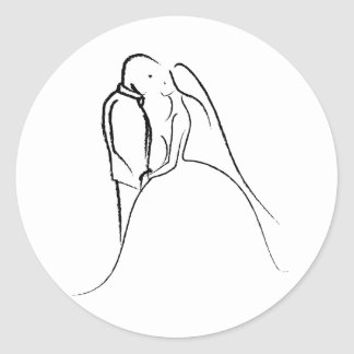 Bride & Groom Sketch Sticker
