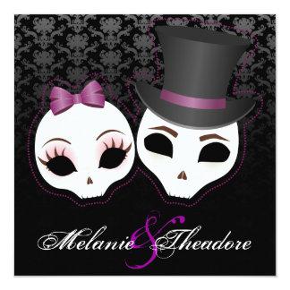 Bride & Groom Skullies (Violet) Card