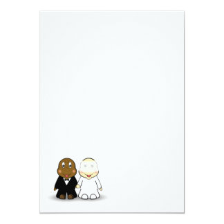 Bride & Groom Wedding Invitation Blank