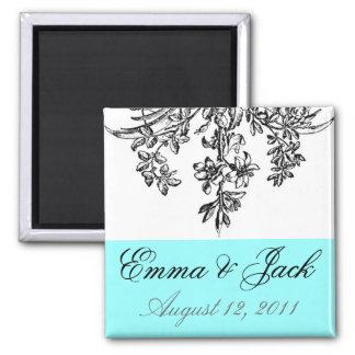 Bride & Groom Wedding Monogram Square Magnet