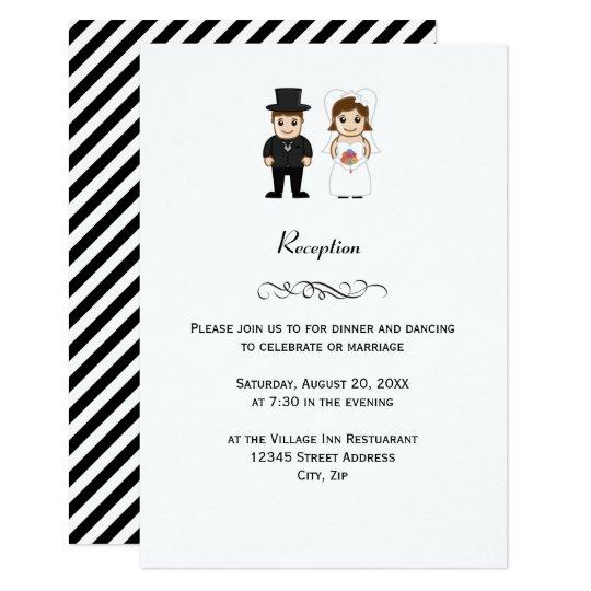 Bride & Groom - Wedding Reception Invitation