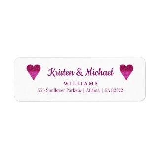 Bride Groom Wedding Return Address
