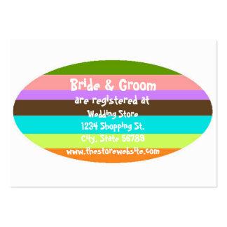 Bride & Groom Wedding Shower Registry Insert Card Pack Of Chubby Business Cards